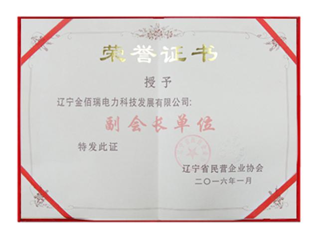 辽宁民营企业建筑协会副会长单位